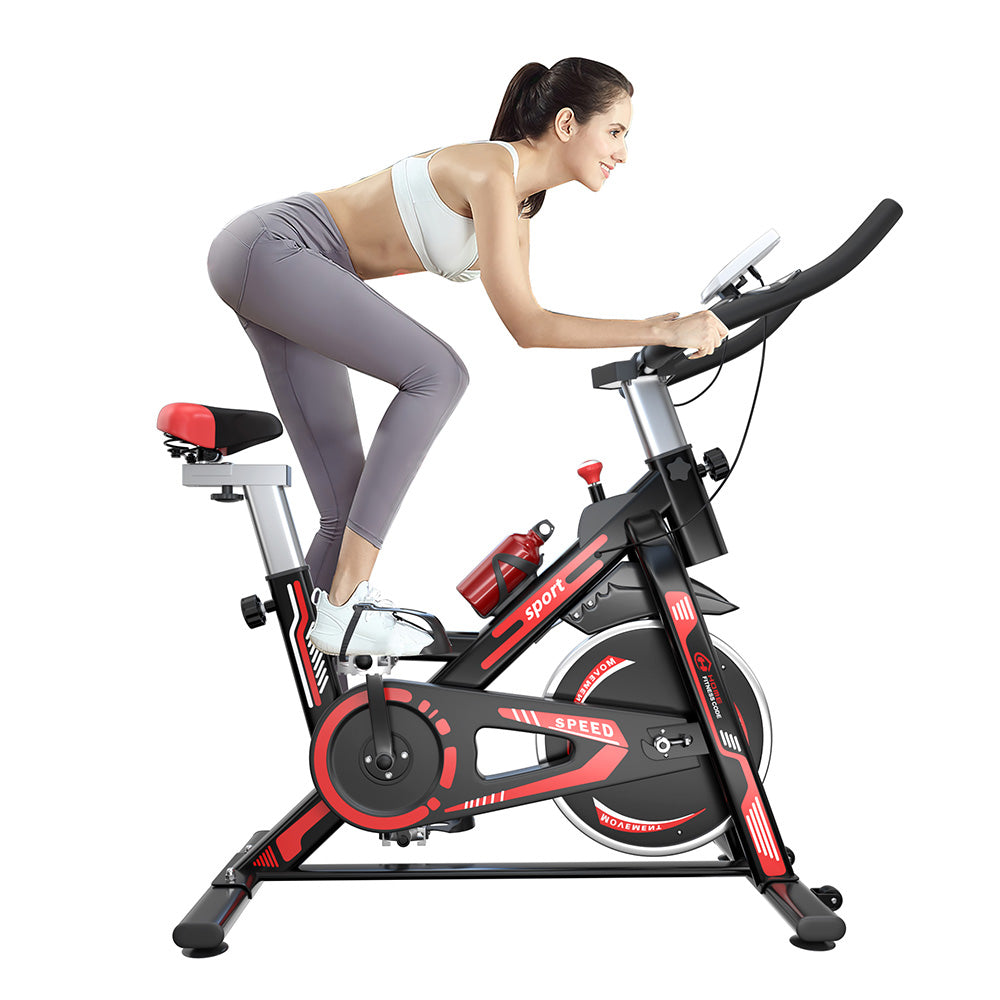 Home Fitness Code Indoor Cycling Stationary Exercise Bike with LCD Display