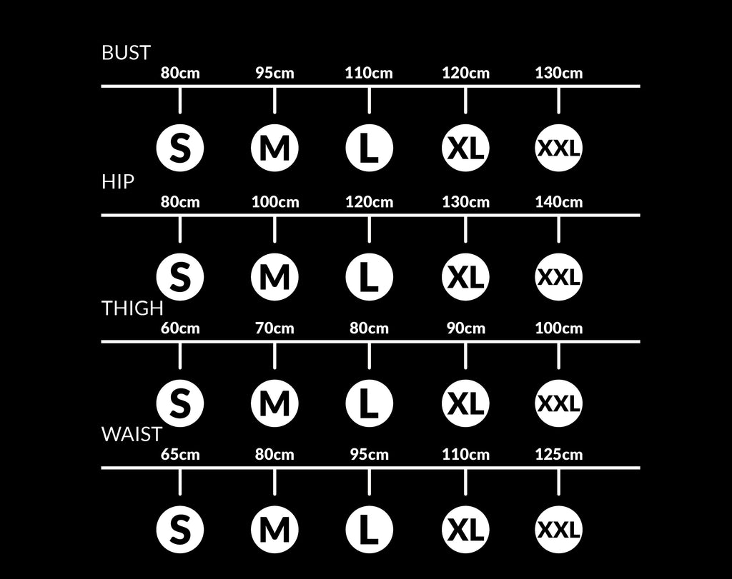 Sizing Chart Graph Only