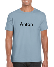 "Load image into Gallery viewer, ""Anton"" T-shirt (Classic Unisex Crewneck T-shirt with Name on it)"