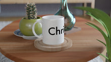 "Load image into Gallery viewer, ""Christina"" White Ceramic Mug for Coffee & Tea"