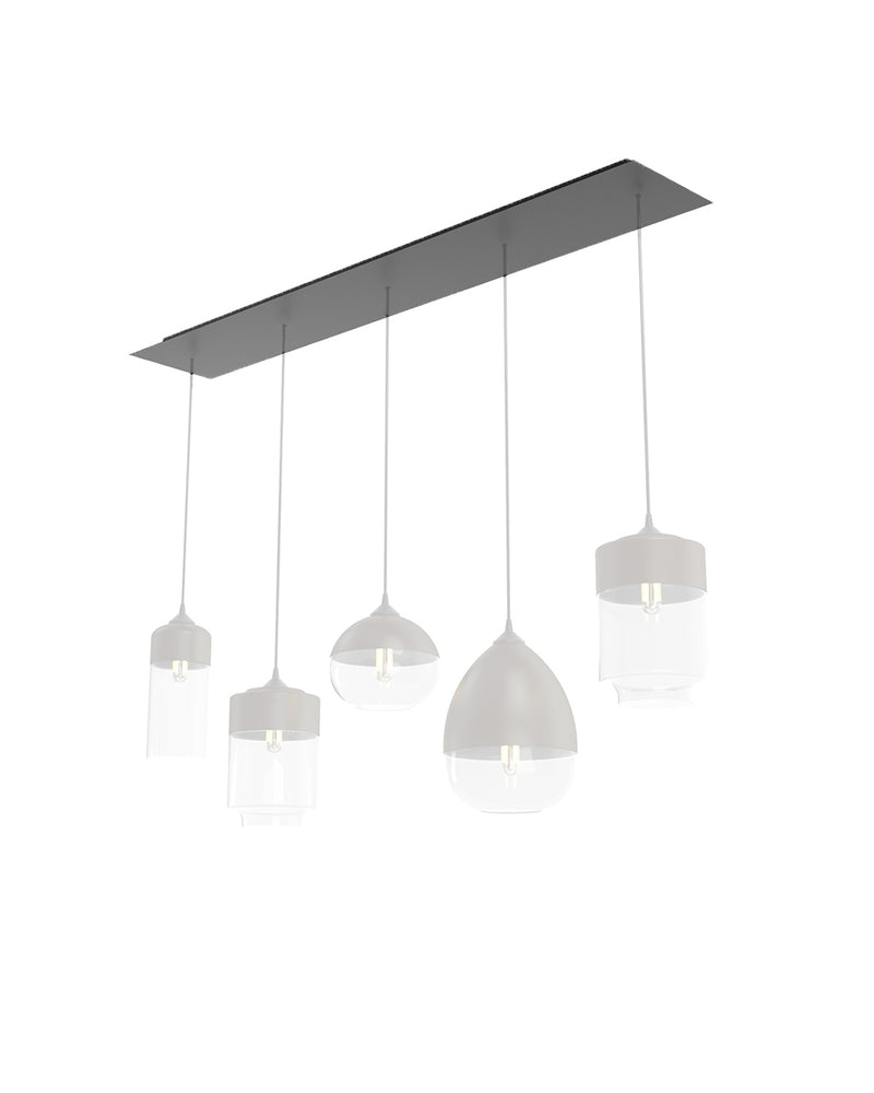 5 Light Rectangular Canopy