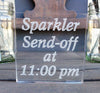 Sparkler Send Off Sign - Personalized