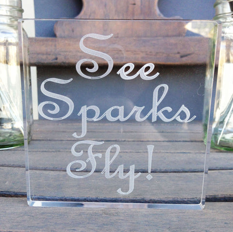 See Sparks Fly Sparkler Send Off Sign