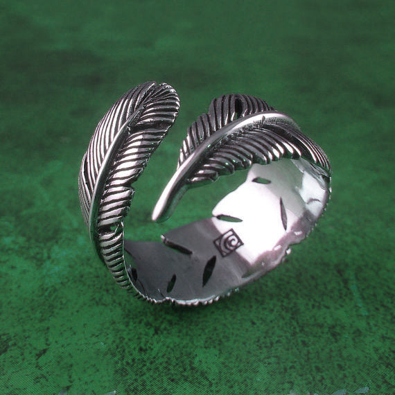 Feather Wrap Ring - Sterling Silver