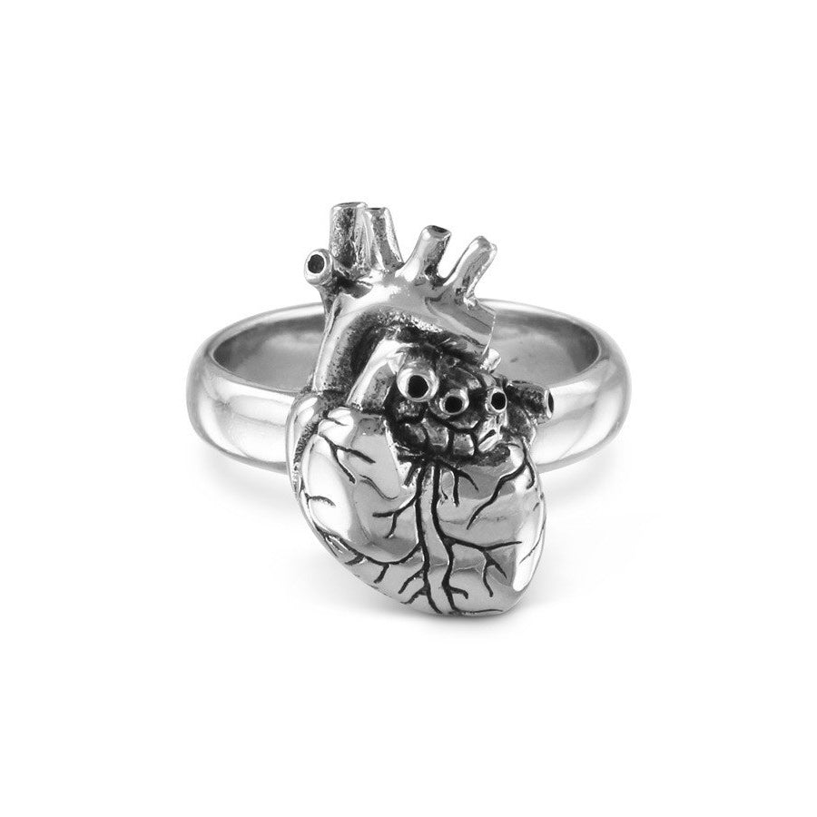 Anatomical Heart Ring - Silver