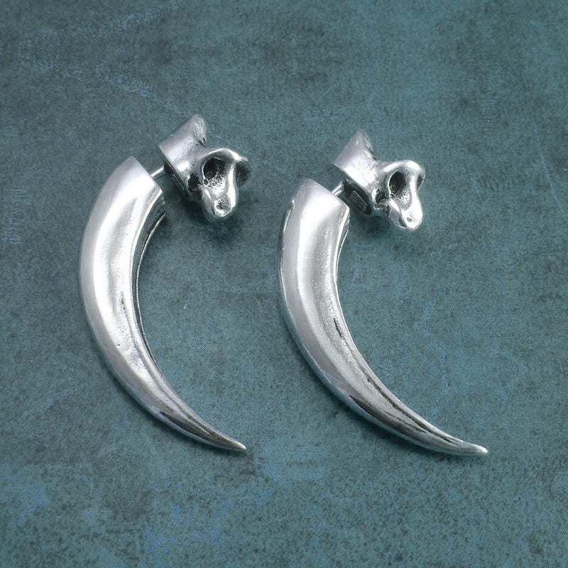 Eagle Talon Earrings - Antiqued SIlver