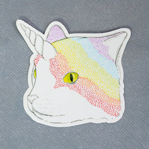 Rainbow Caticorn - Vinyl Sticker