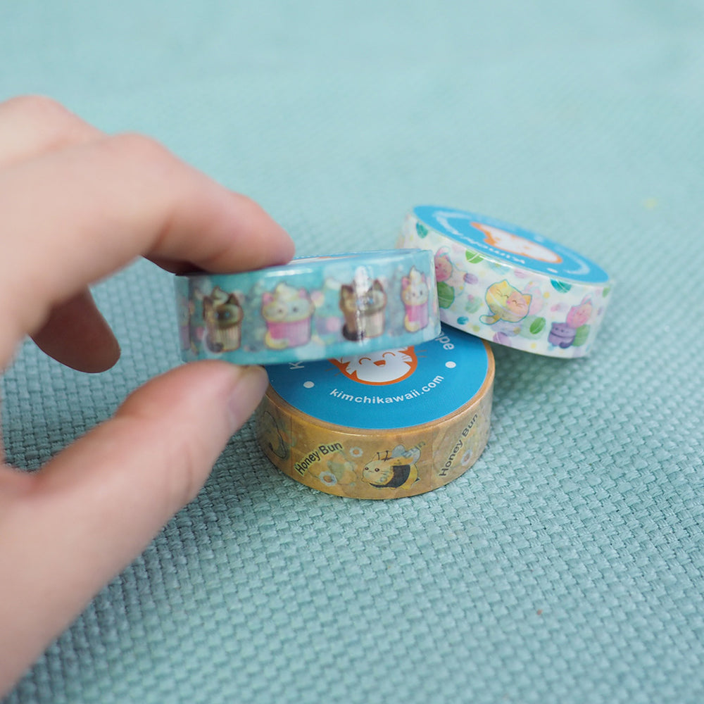 Washi Tape - Yummy Macaron Kitties