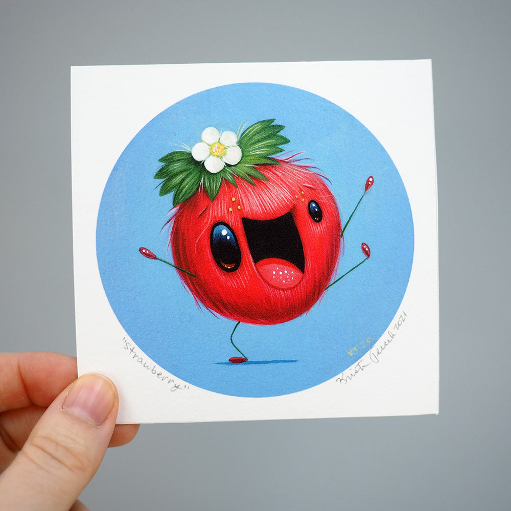 Signed Fine Art Mini Print - Strawberry