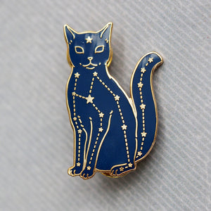 Load image into Gallery viewer, Constellation Cat - Metal Enameled Pin