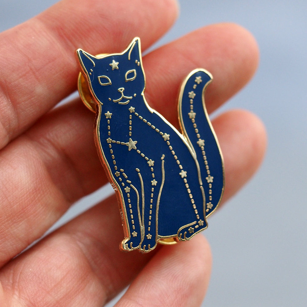 Constellation Cat - Metal Enameled Pin