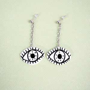 Load image into Gallery viewer, Spooky Eyeball Dangle Earrings