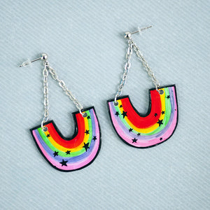 Rainbows & Stars Drop Earrings