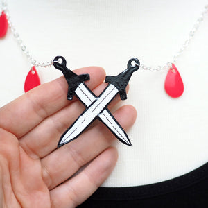 Load image into Gallery viewer, Sword Tarot Necklace