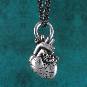 Anatomical Heart Necklace - Silver