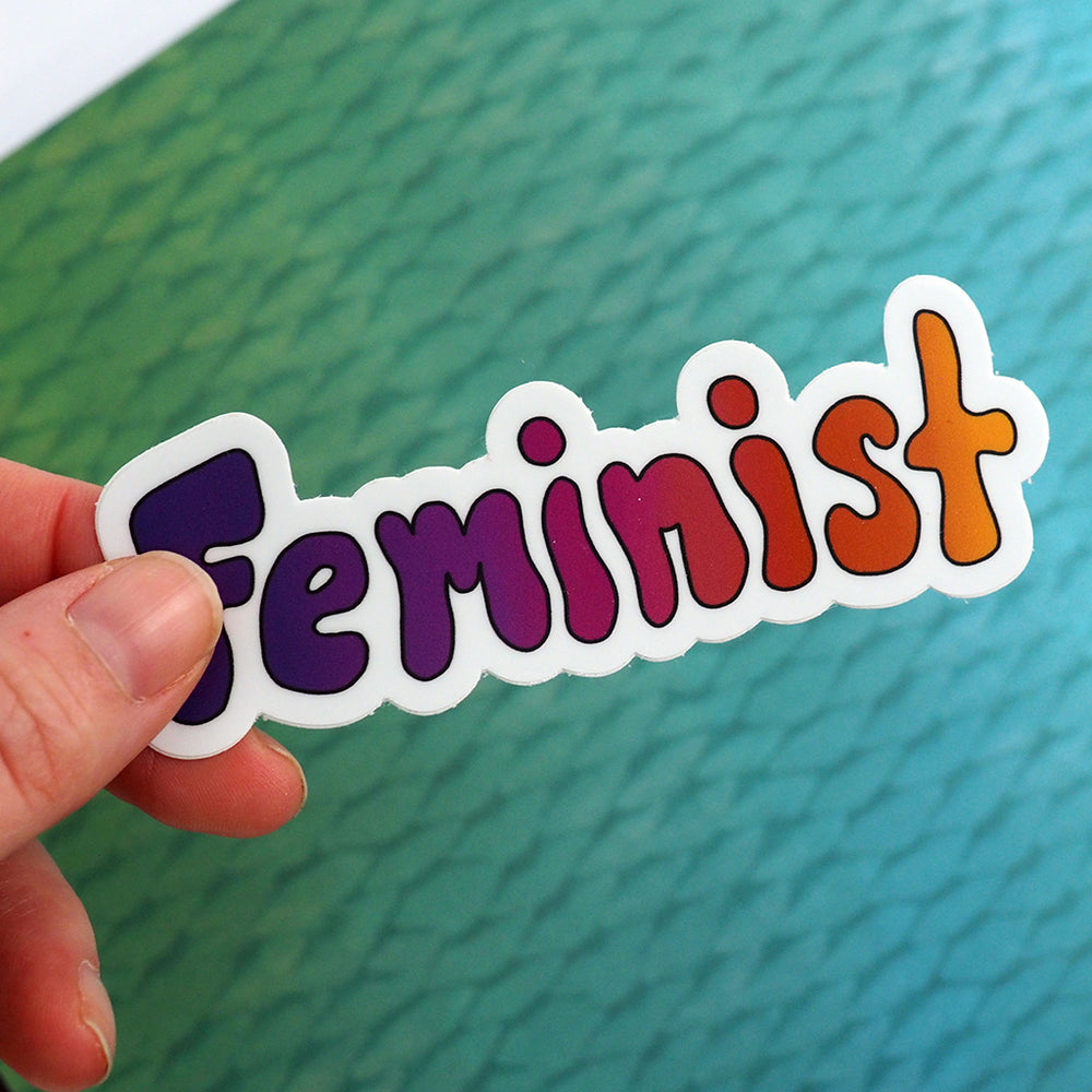Load image into Gallery viewer, Bubble Letter Feminist Sticker