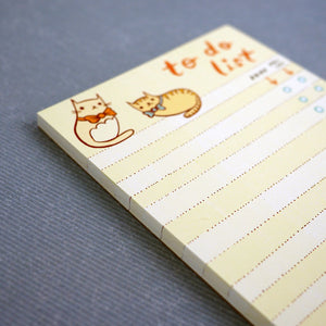 Fancy Cat To-Do-List Notepad