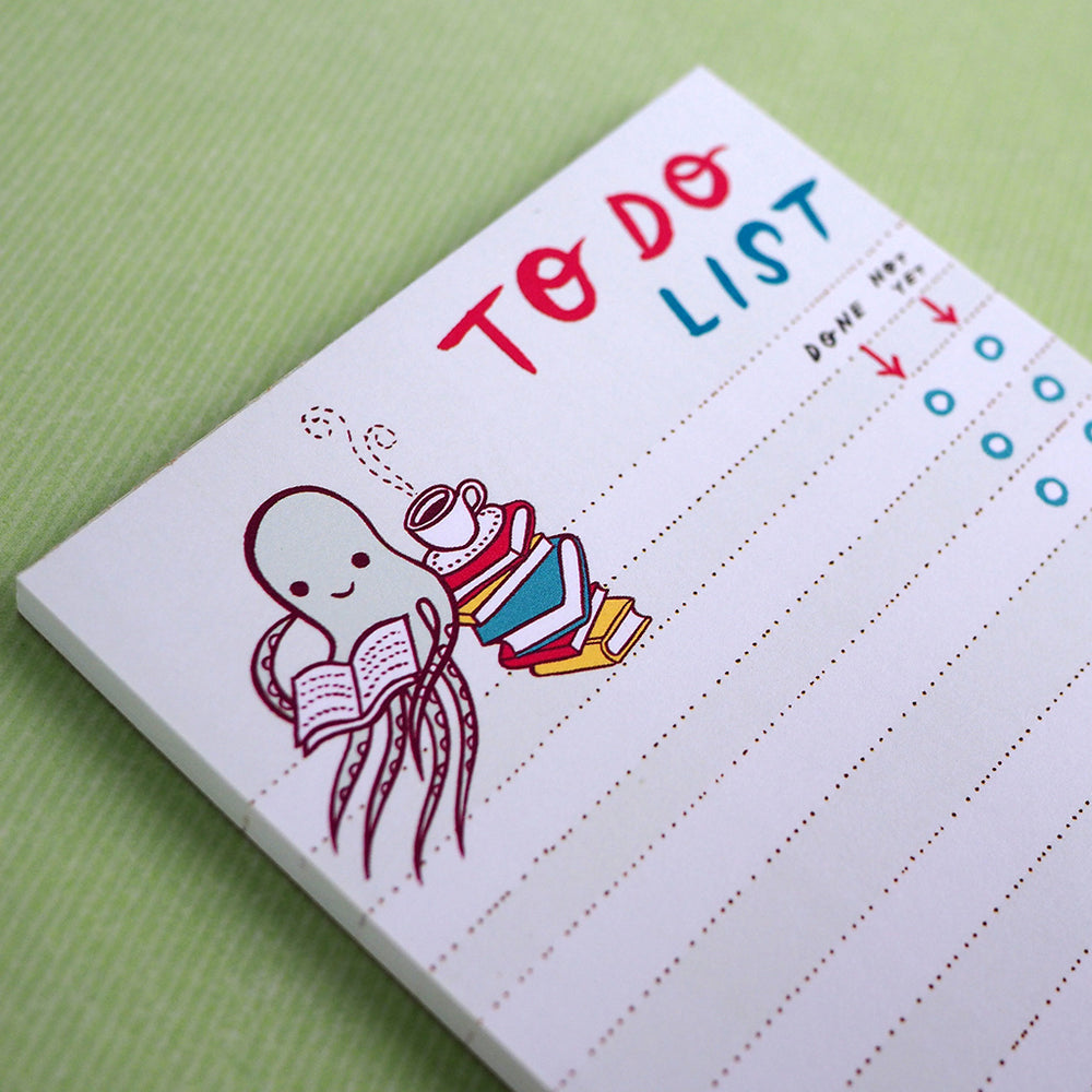 Octopus & Books To-Do-List Notepad