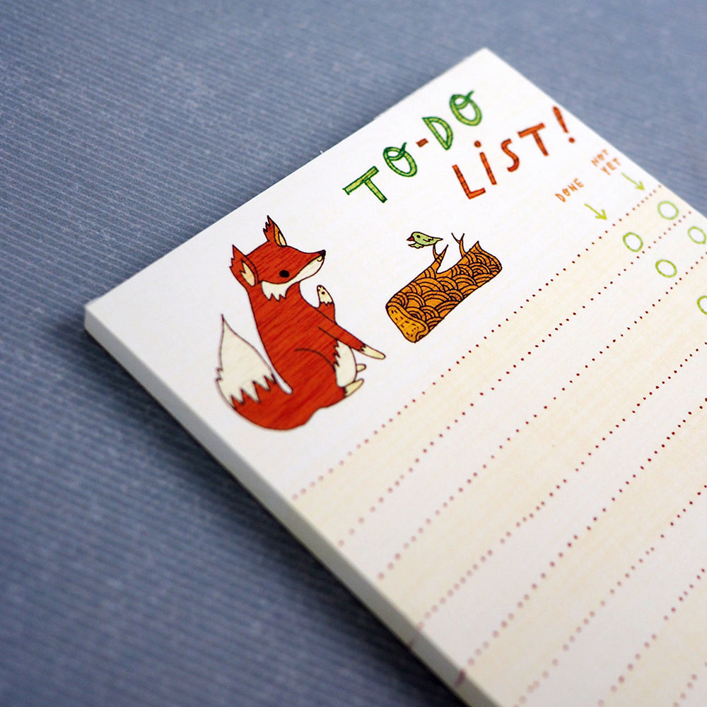 Fox To-Do-List Notepad