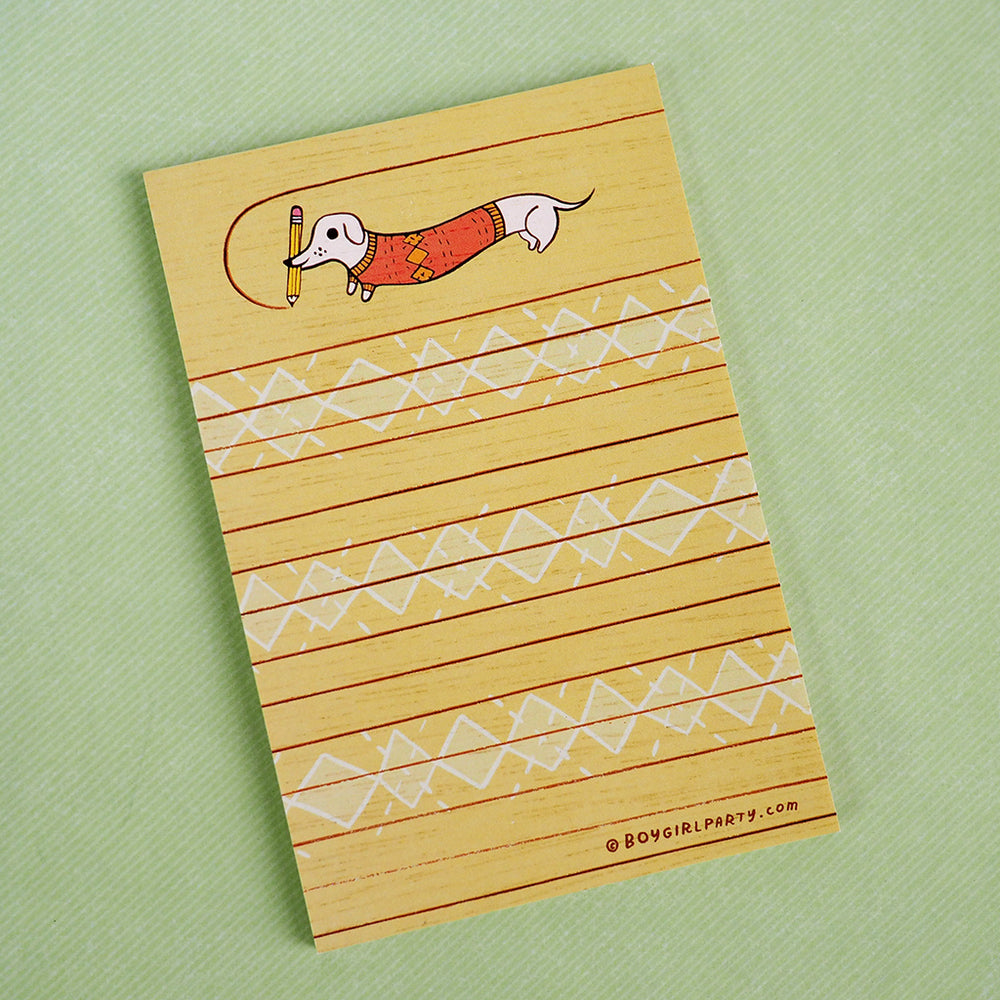 Wiener Dog / Dachshund Notepad