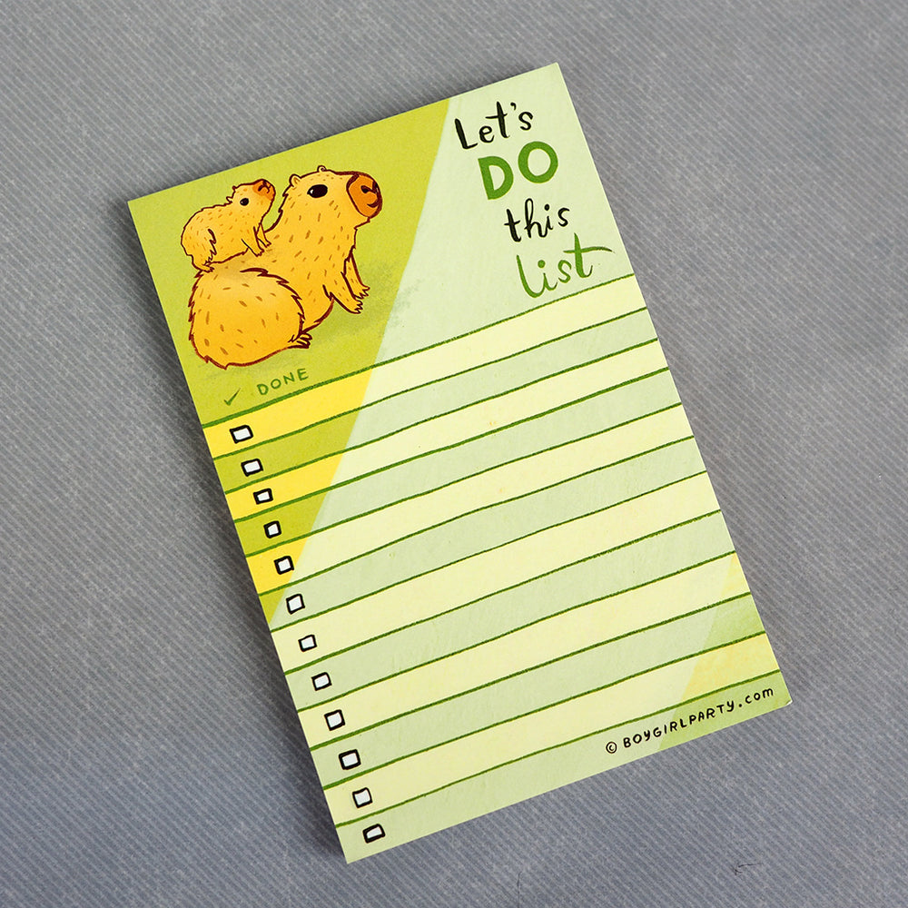 Capybara To Do List Notepad