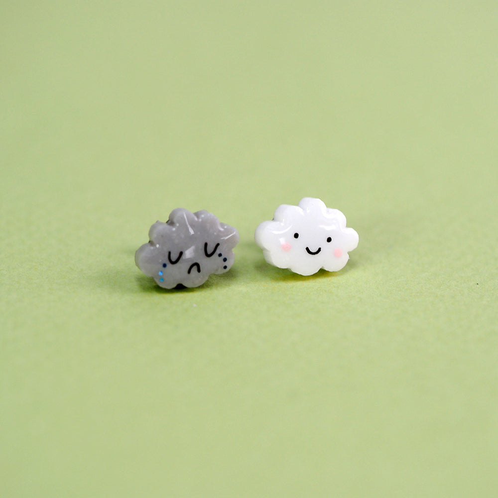 Happy Cloud Sad Cloud Earring Set