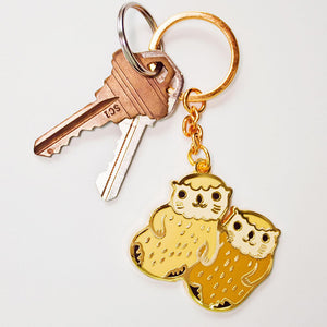 Load image into Gallery viewer, Best Friends Otter Keychain