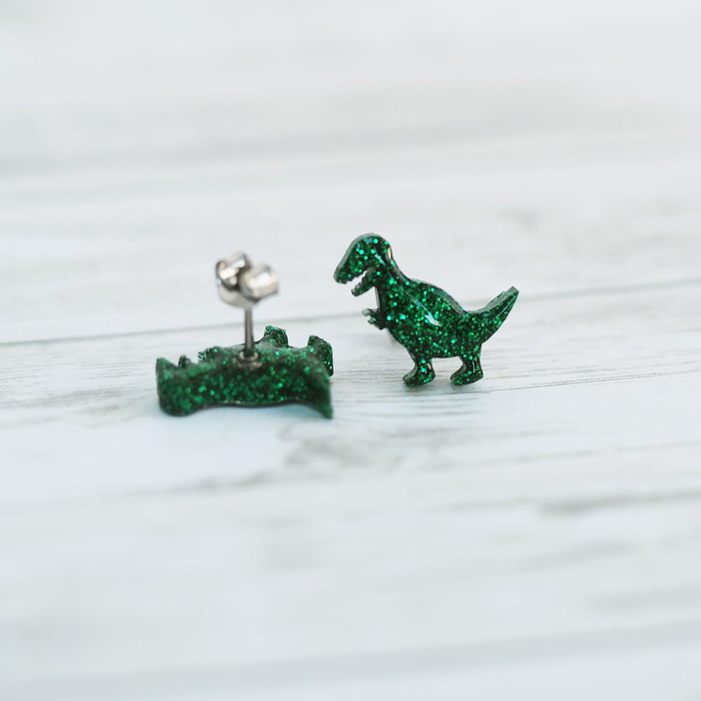 T-Rex Dinosaur Stud Earrings