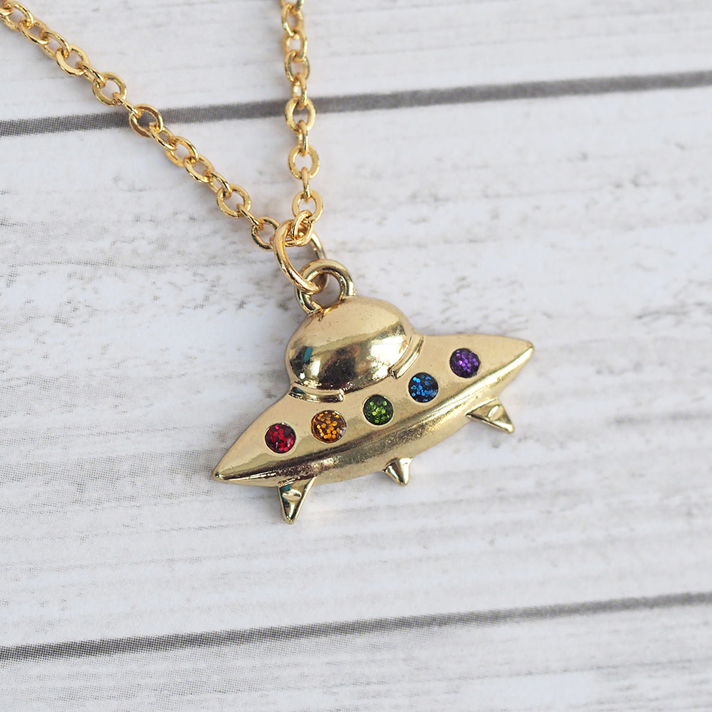 Load image into Gallery viewer, UFO Necklace