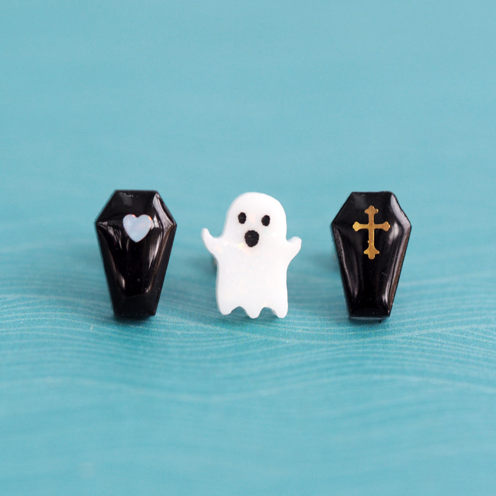 Coffin And Ghostie - Mix & Match Earring Set