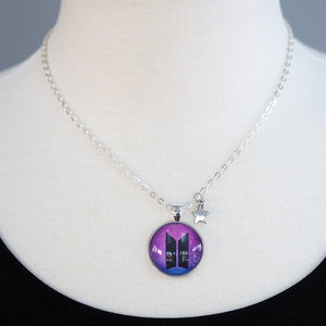 BTS Galaxy Logo Necklace