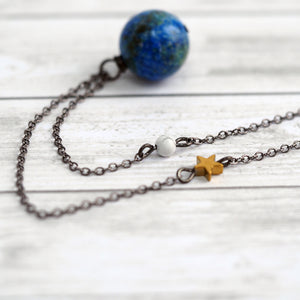 Earth & Moon Necklace