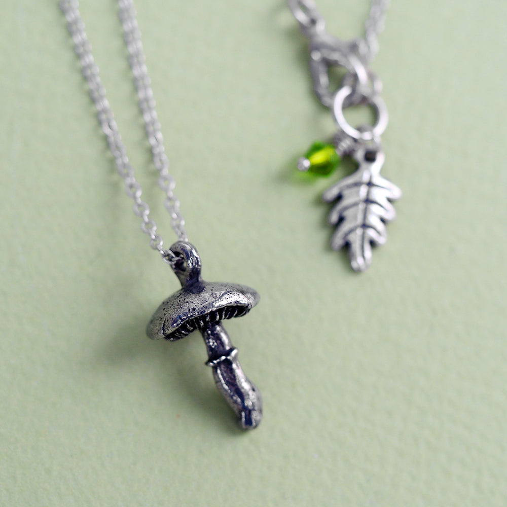 Load image into Gallery viewer, Forest Mushroom Necklace