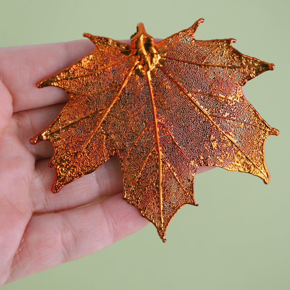 Fallen Maple Leaf Necklace - Copper