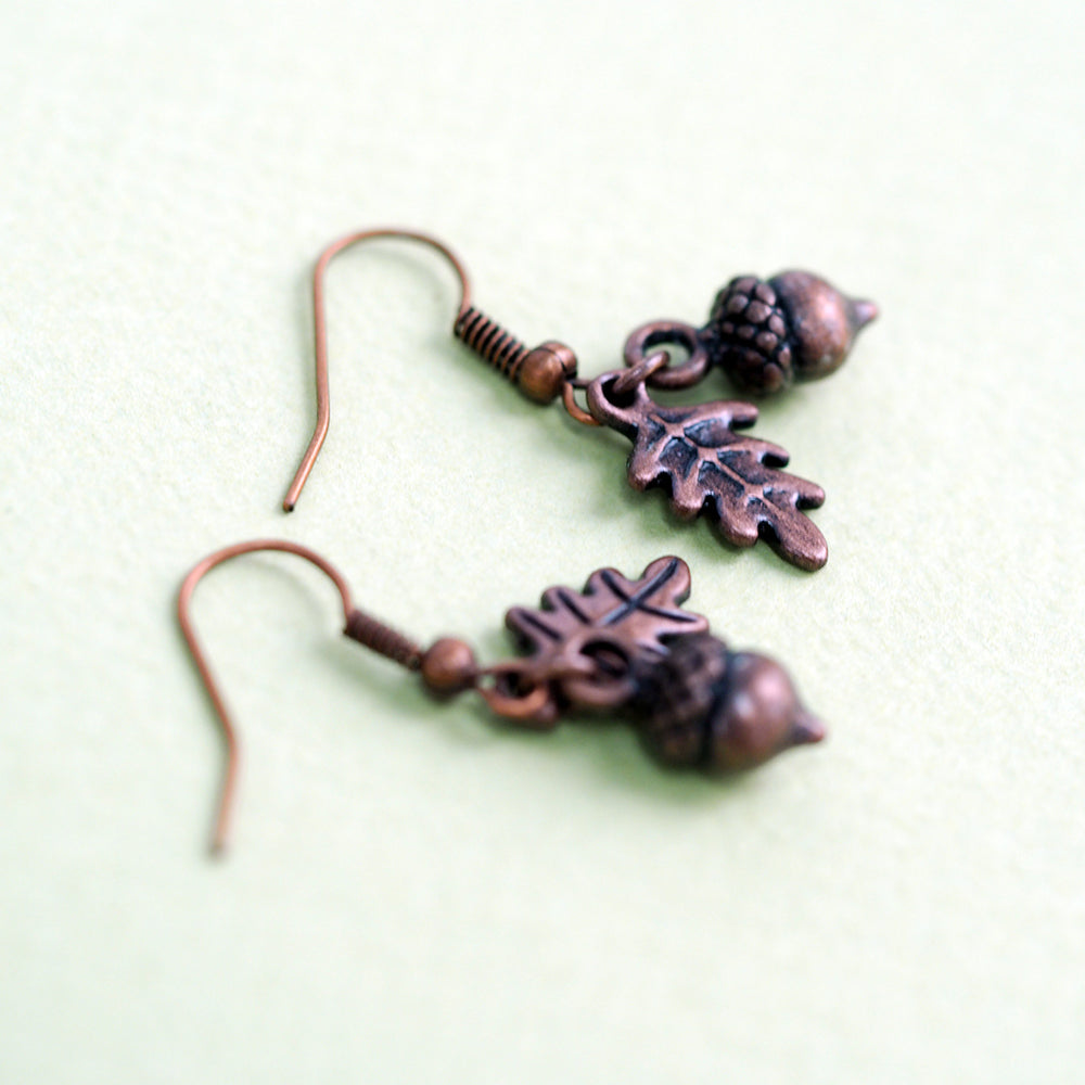 Load image into Gallery viewer, Woodland Acorn Earrings - Bronze