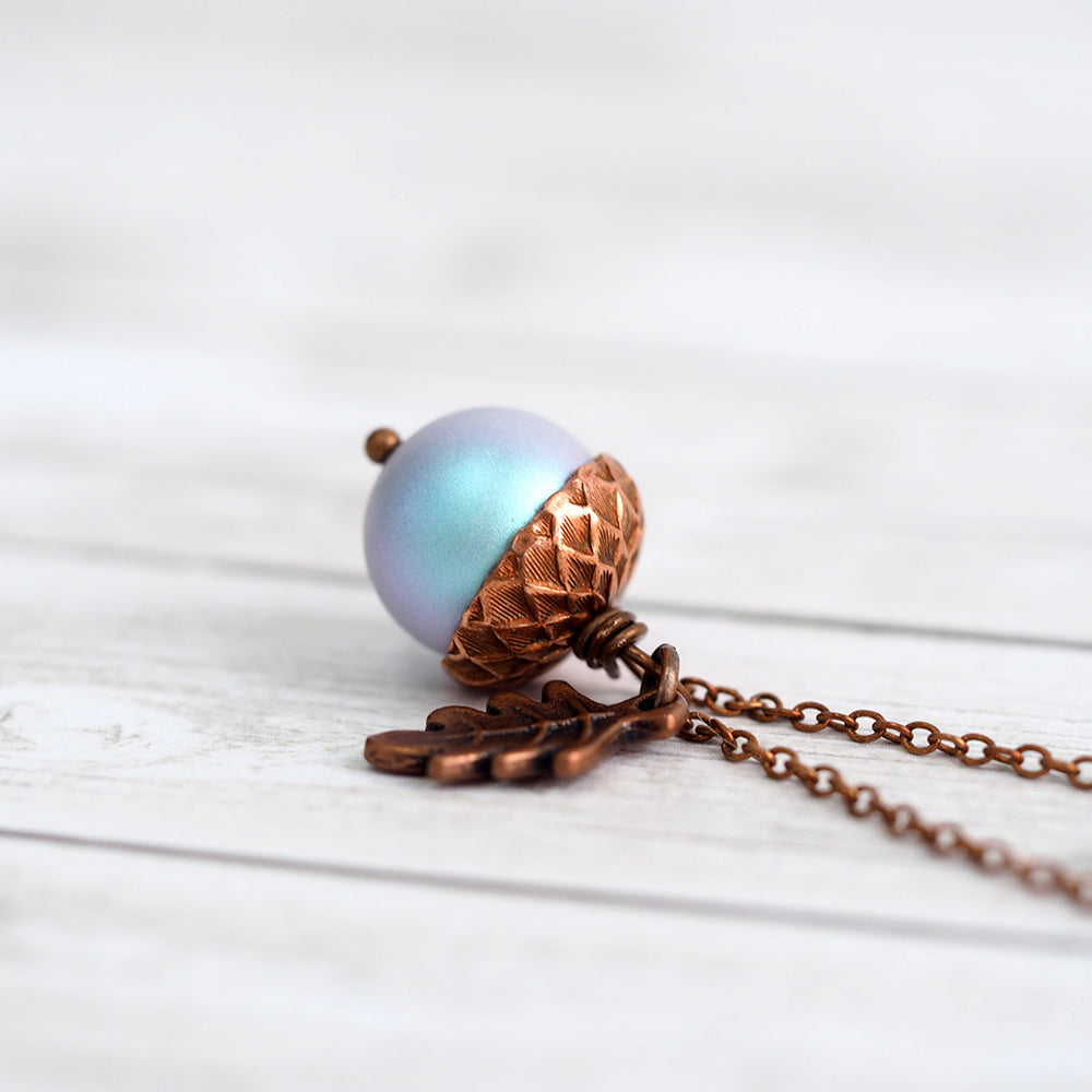 Magic Acorn Necklace - Copper Moon Shimmer