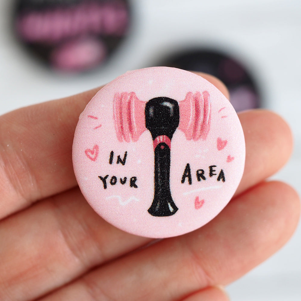 BLACKPINK Shimmer Pins - Whistle, BLINK, Kill This Love, In the Area
