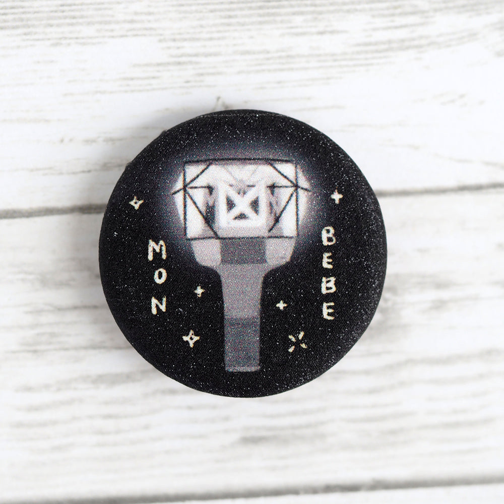 Load image into Gallery viewer, Monsta X Mon Bebe Lightstick Shimmer Pin