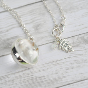 Dandelion Wishes Orb Necklace