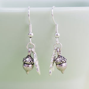 Load image into Gallery viewer, Woodland Acorn Earrings - Silver