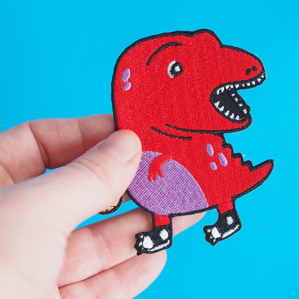 Clumsy Dinosaur Iron-on Patch