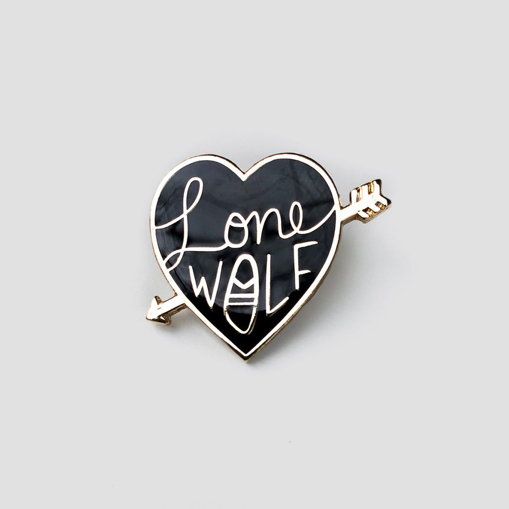 Lone Wolf - Metal Enameled Pin