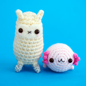 Load image into Gallery viewer, Little baby Axolotl Amigurumi