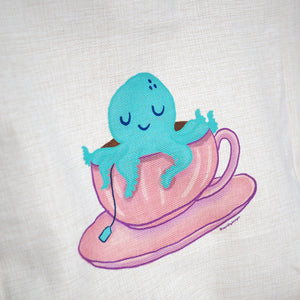 Octopus Teacup Tote Bag - Large Size