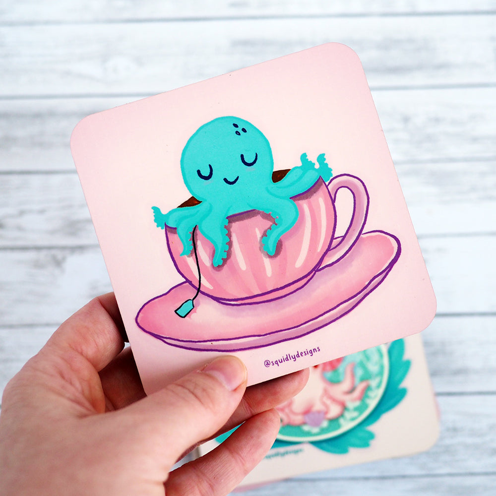 Load image into Gallery viewer, Octopus Coaster Set