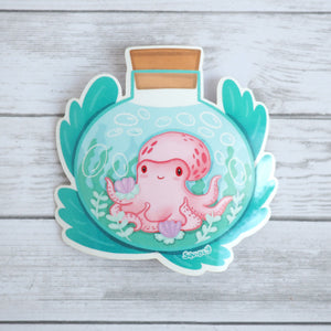 Load image into Gallery viewer, Octopus in a Bottle Sticker