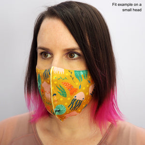 Load image into Gallery viewer, Cephalopod Face Mask - Mustard Yellow