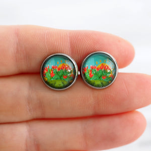 Cactus Blossoms Stud Earrings