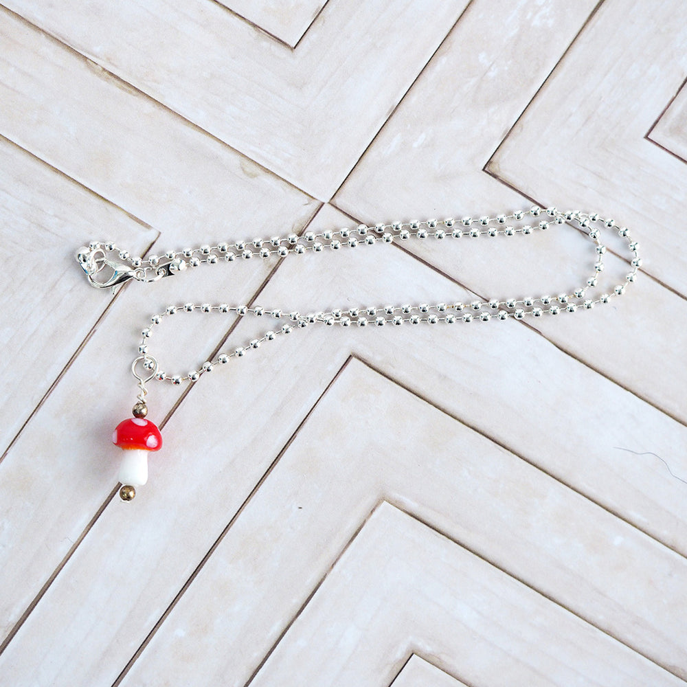 Load image into Gallery viewer, Little Mushroom Necklace