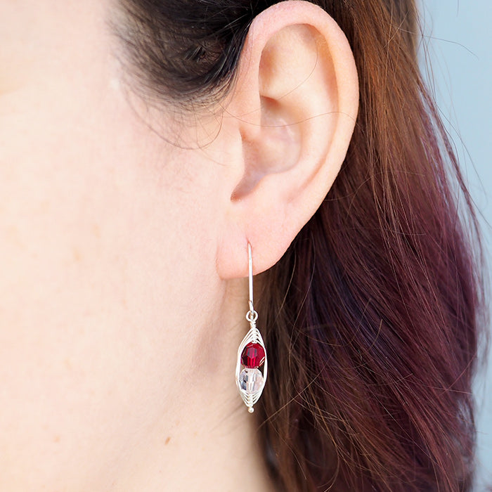 Personalized Birthstone Pea Pod Earrings